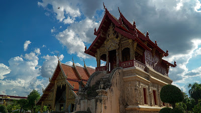 Ho Trai, or temple library of Wat Phra Singh