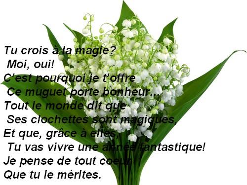 Top du meilleur texte et carte pour le 1 mai - Poeme coccinelle porte bonheur ...