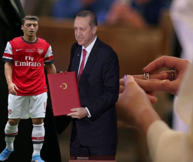 لماذا استدعى أوزيل رئيس تركيا لحفل زفافه
