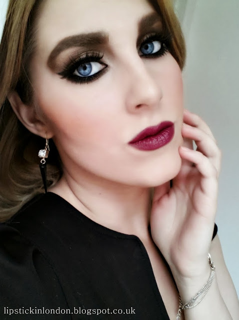 Fall 2013 Makeup with Berry Lips