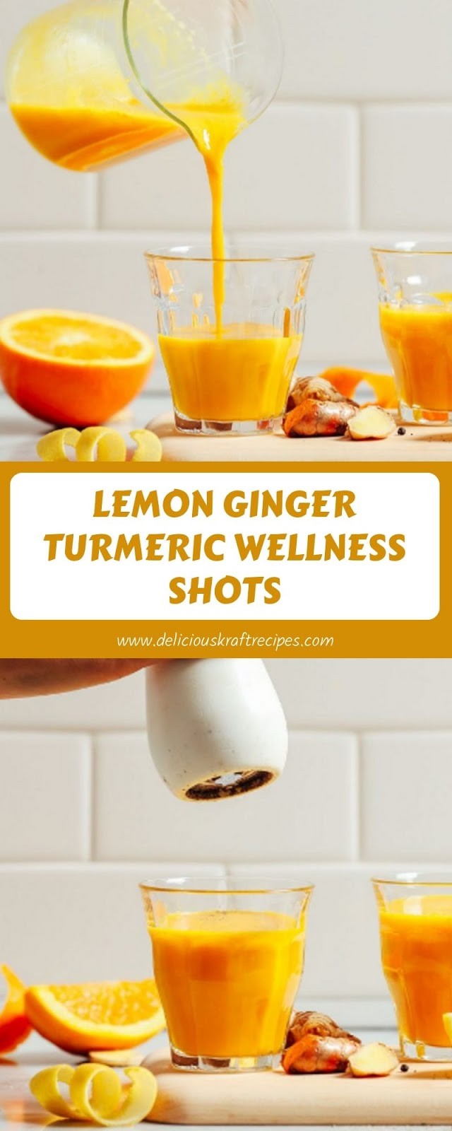 LEMON GINGER TURMERIC WELLNESS SHOTS