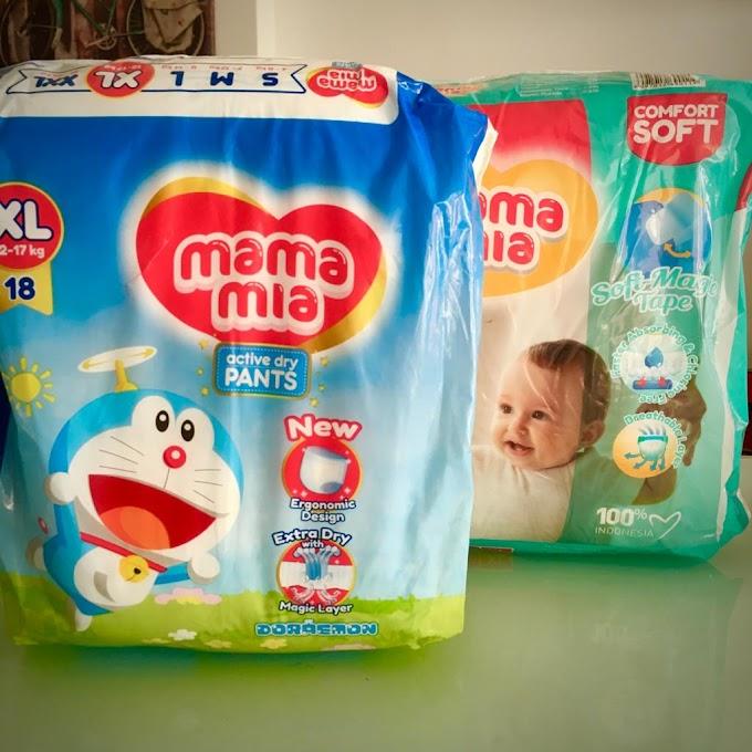 Mamamia Baby Diapers lampin pakai buang yang berkualiti tinggi dengan harga yang berpatutan