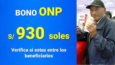 Bono ONP de 930 soles en enero 2021 #DevoluciónONP LINK DU