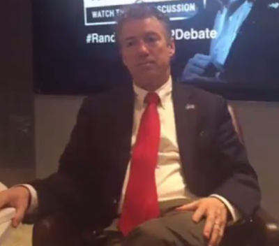 Rand Paul rally GOP Debate town hall Periscope