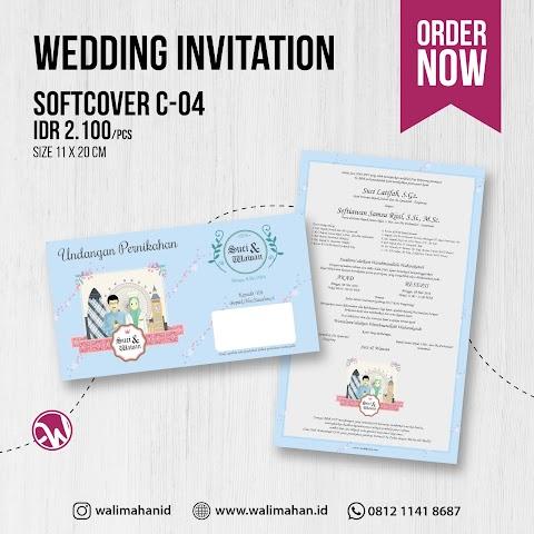 Undangan Pernikahan Softcover C04
