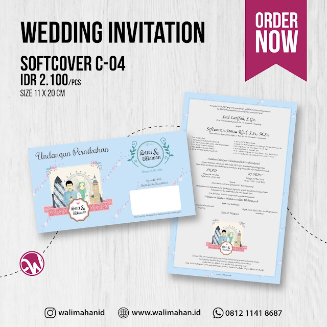 Undangan Pernikahan Tangerang C04 - Walimahanid | 0812-1141-8687