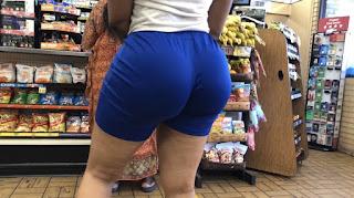 Mujeres colas grandes licra ajustada