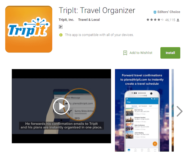 tripIT android app