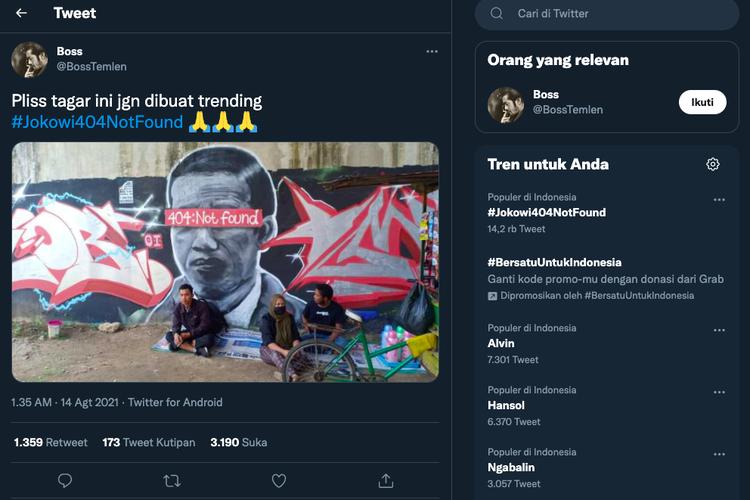 Soal Penghapusan Mural Jokowi '404 Not Found', Istana: Presiden Itu Orangtua Kita, Jadi Harus Dihormati