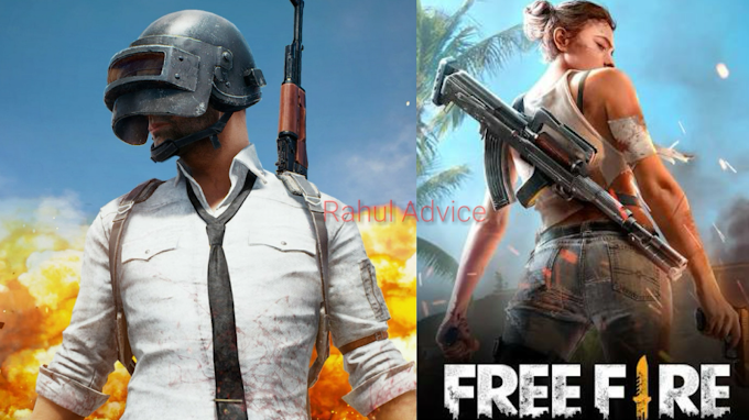 PUBG MOBILE Or GREENA FREE FIRE GAME Me Difference