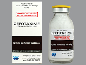 Cefotaxime is a semi-synthetic broad-spectrum bactericidal cephalosporin antibiotic