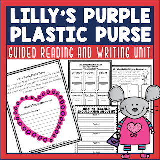 Lilly's Purple Plastic Purse is a wonderful mentor text for word choice, character change, and visualizing. Check out this post to learn about a great collection of Kevin Henkes books.