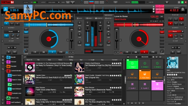 Virtual DJ Pro Infinity 8 3 4787 Free Download Full Version | SamyPC Com