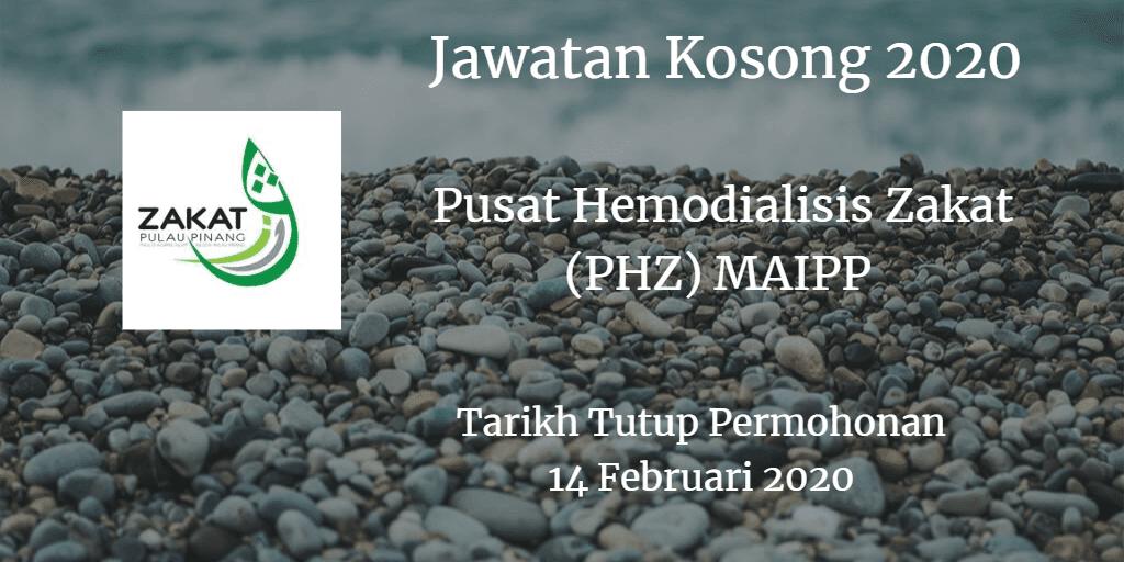 Jawatan Kosong Pusat Hemodialisis Zakat (PHZ) MAIPP 14 Februari 2020