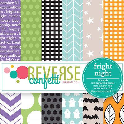 fright night 6x6 pattern paper