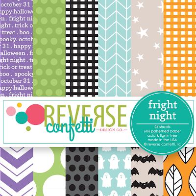 fright night 6x6 pattern paper