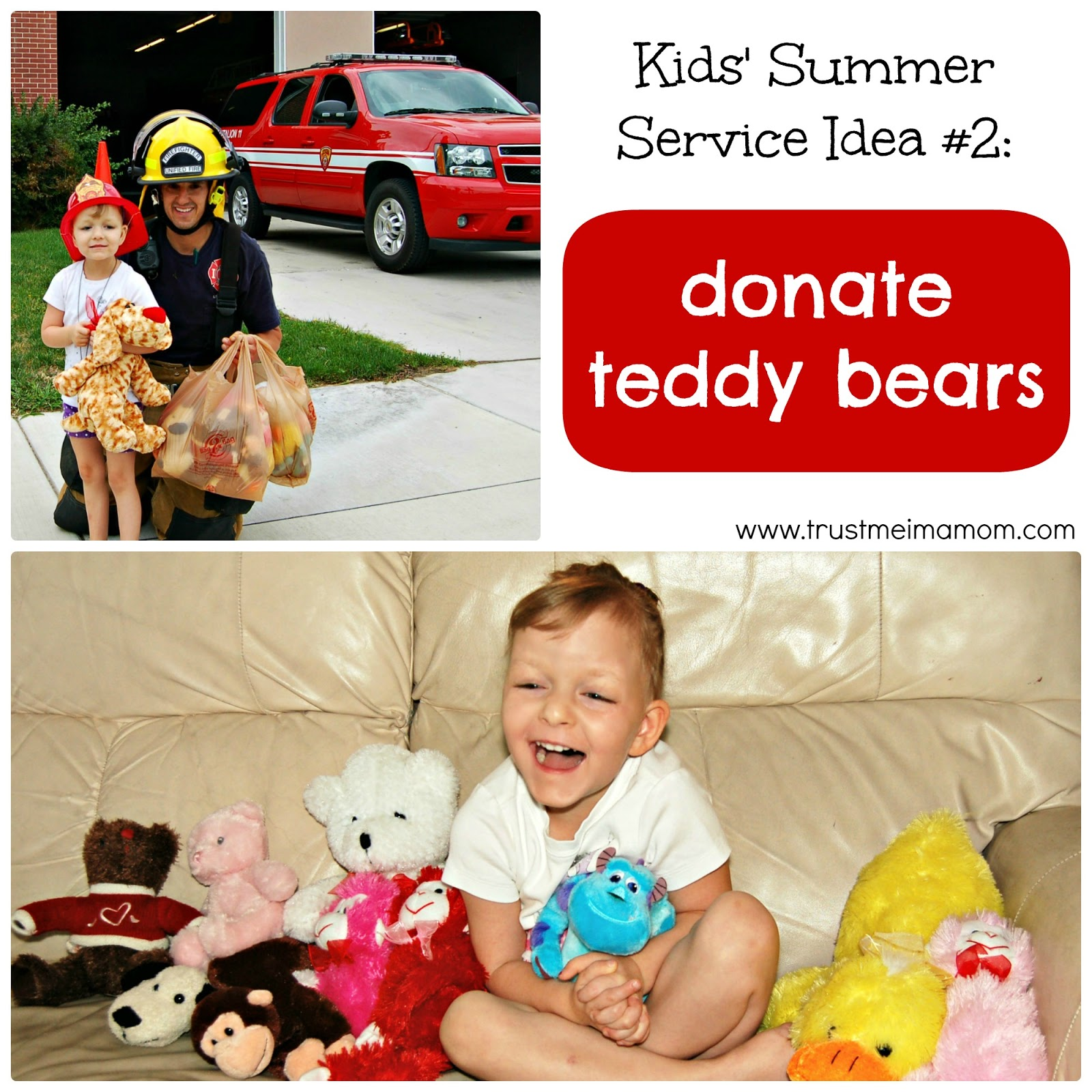 Fun Ways to Serve with Kids This Summer - Idea #2: Host a Teddy Bear Drive