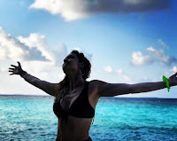 Diana Chavas nas Maldivas