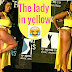 Skolopad lady in a yellow-dress flaunting her goods this  2017