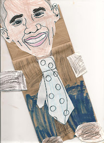 Barack Obama Craft for kids preschool - Black History Month