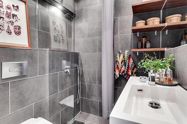 Un baño de estilo nórdico y elegante