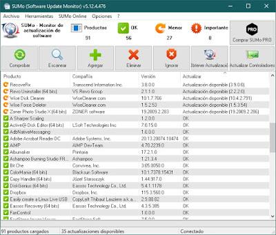 SUMo 5.12.4.476 - Mantén el software de tu equipo siempre actualizado