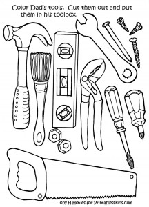 Coloring Pages Tools Construction Cute Printable Coloring