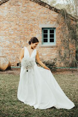 bride in jenny yoo dress