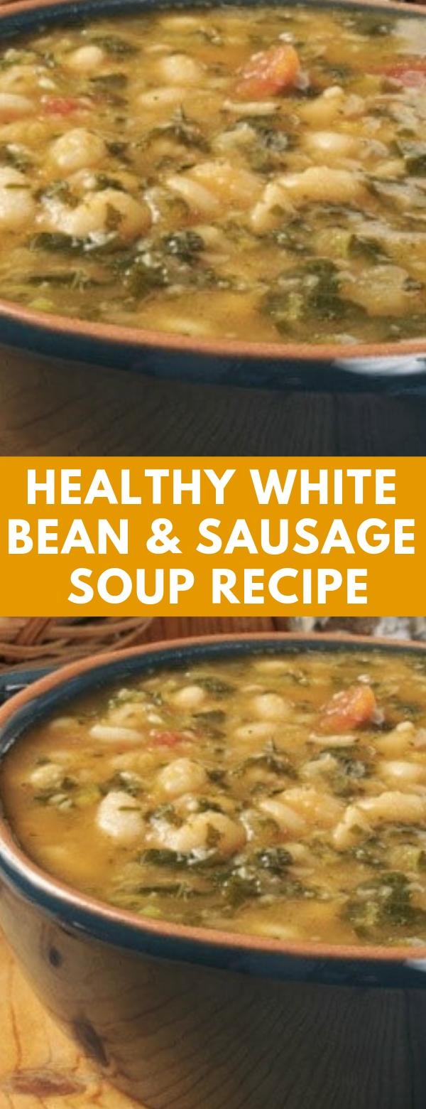 Healthy White Bean & Sausage Soup Recipe