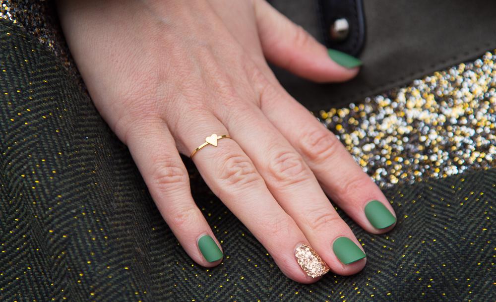 mode - bague - coeur - impress - faux - ongles