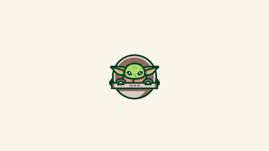 Baby Yoda, Minimalist, 8K, #7.978