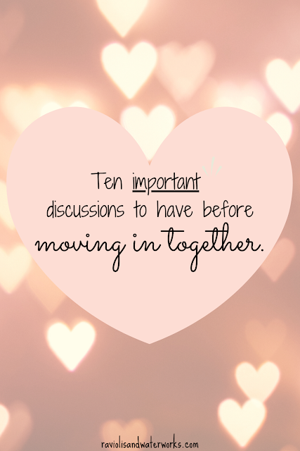 what to talk about before living together; moving in together topic starters; living together topic starters