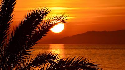 Plano de Fundo Paisagem Pôr do Sol Tropical