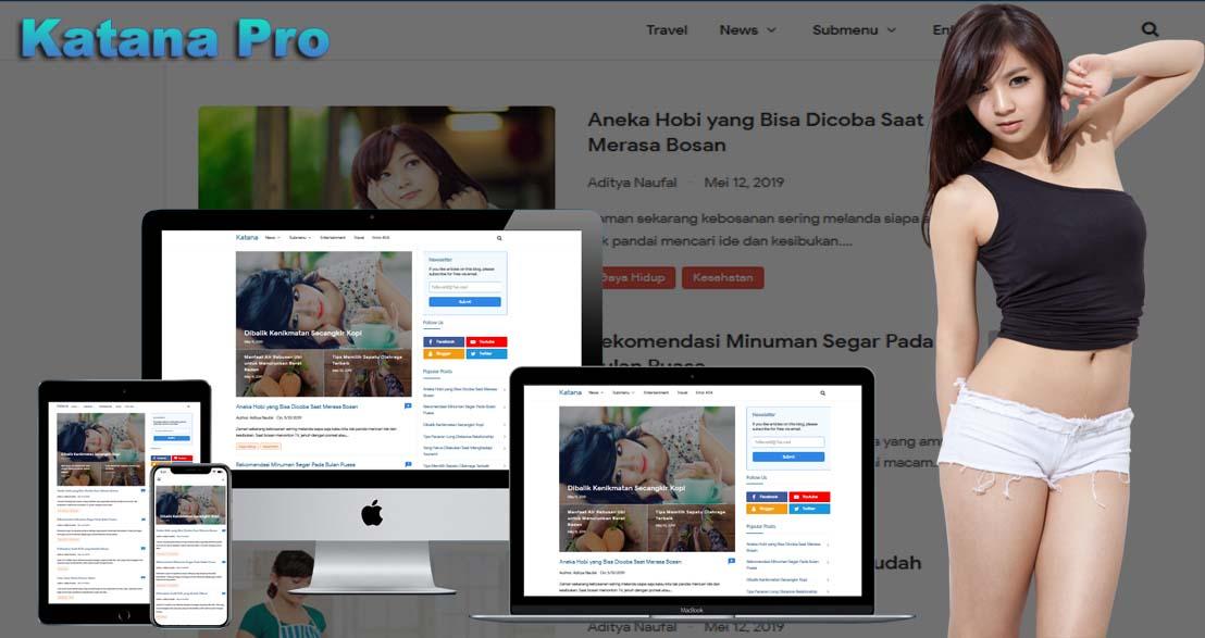 Katana Pro Responsive Blogger Template