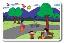 Adik bersepeda di taman www.jokowidodo-marufamin.com