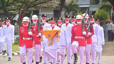 Peringatan HUT  Ke-76 RI di Sidrap, Berlangsung Khidmat dan Lancar dengan Tetap Menerapkan Protokol Kesehatan