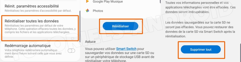 Hard Reset Android 9.0