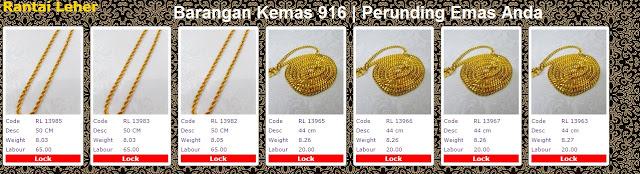 Galeri Emas Perhiasan 916 rantai leher | powergold by syedhusseingold