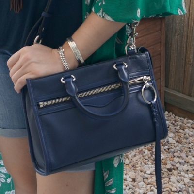 Rebecca Minkoff Micro Bedford zip satchel in twilight | awayfromtheblue