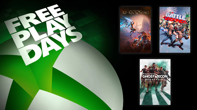 kingdoms of amalur re-reckoning tom clancy's ghost recon breakpoint wwe 2k battlegrounds xbox live gold free play days event