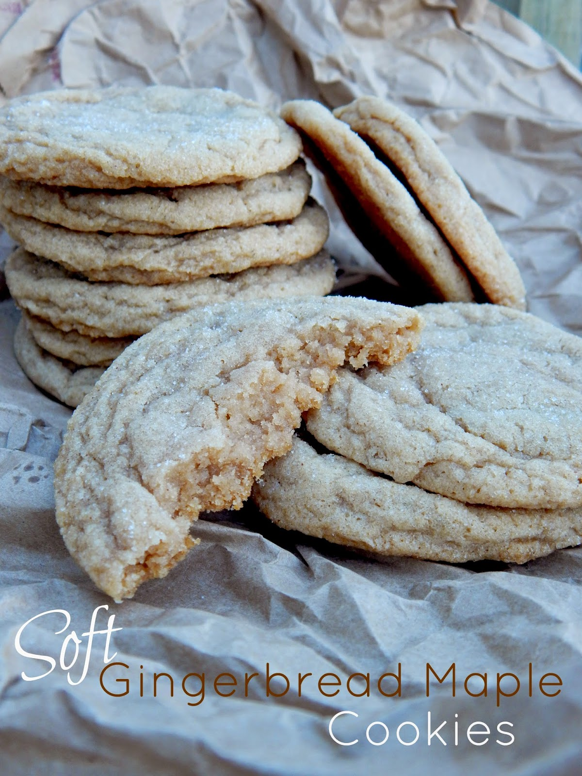 soft gingerbread maple cookies (sweetandsavoryfood.com)