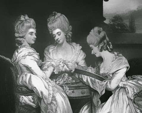 Lady Maria Waldegrave, Laura Viscountess Chewton and Lady Horatia Waldegrave from The Letters of Horace Walpole ed P Cunningham Vol 5 (1859)
