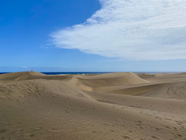 Sand dunes in Maspalomas, Gran Canaria, Spain