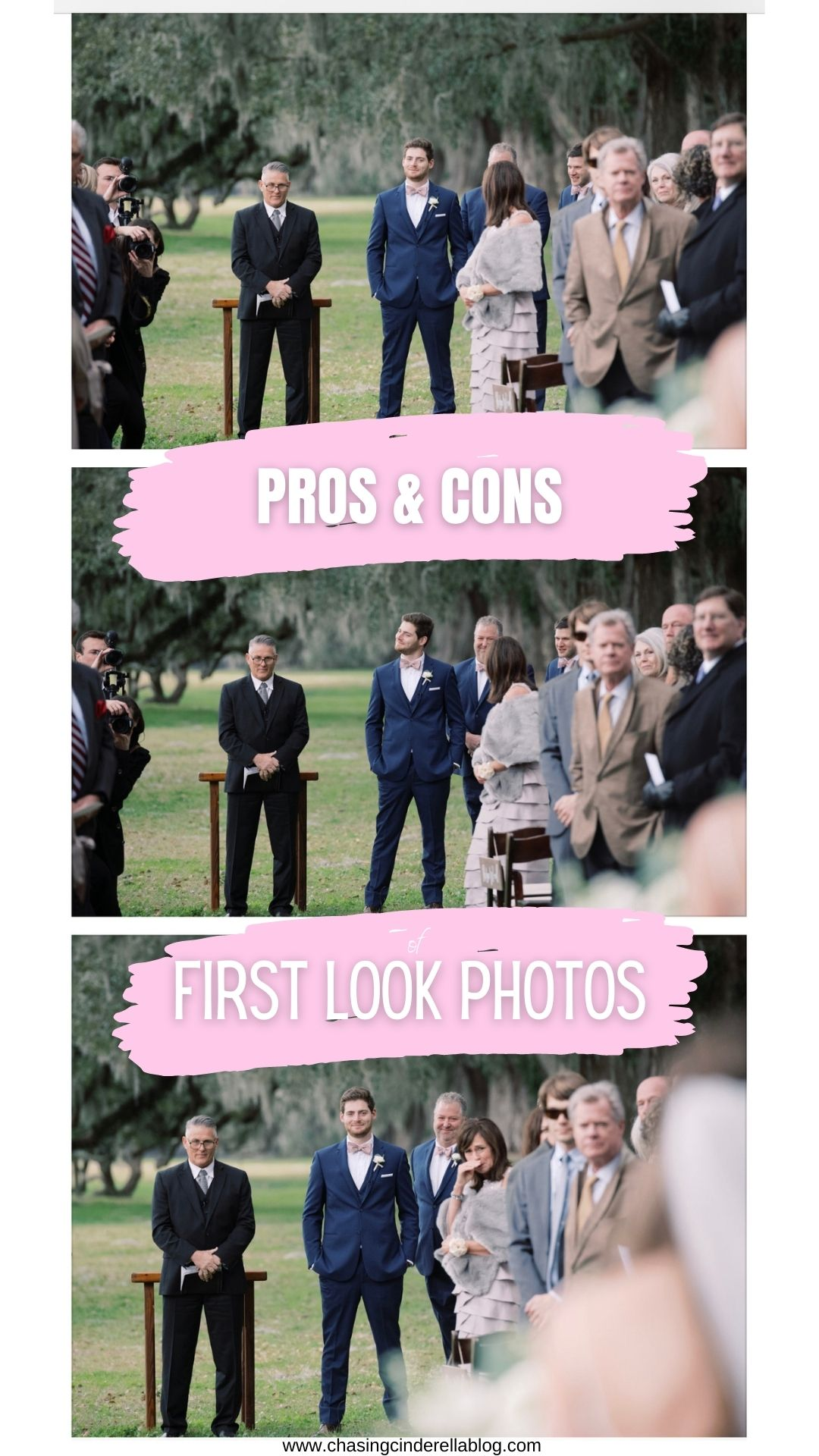 Should You Do A First Look At Your Wedding? - Chasing Cinderella