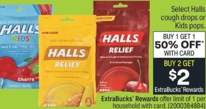 FREE Bag of Halls Cough Drops at CVS