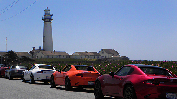 Pigeon Point Lighthouse and Hostel with Miata Lineup