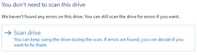 Memulai proses scanning harddisk