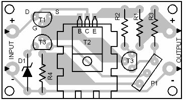 Parts Placement Layout Power Supply Regulator