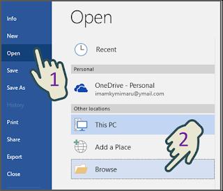 Membuka File Non-Asli di Word dari Program Window