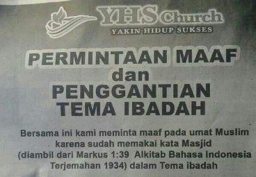 Pendeta Gereja YHS Akui Kesaksiannya Tidak Benar, NU Desak Permintaan Maaf Terbuka